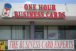 One Hour Business Cards Houston