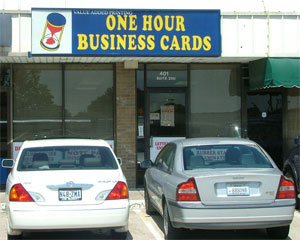 One Hour Business Cards Serving Dallas Ft Worth Garland